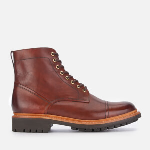 Grenson Men's Joseph Hand Painted Leather Lace Up Boots - Tan