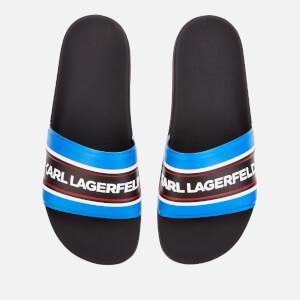 Karl Lagerfeld Men's Kondo Contrast Slide Sandals - Navy