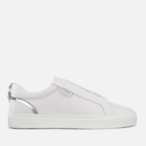 Karl Lagerfeld Men's Karl Leather Slip-On Trainers - White