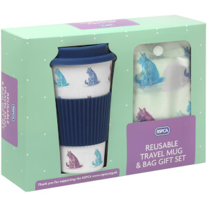 RSPCA Cats Travel Mug and Shopper Bag Gift Set