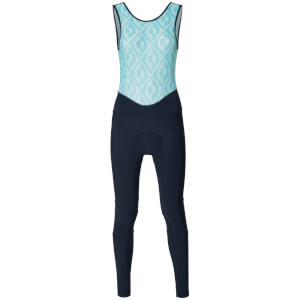 Santini Women's Coral Bib Tights - Black/Aqua Blue