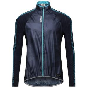 Santini Fine Windbreaker Jacket - Nautica Blue