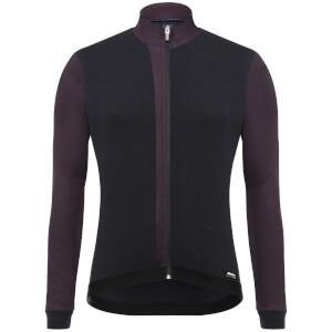 Santini Origine Long Sleeve Jersey - Black/Bordeaux