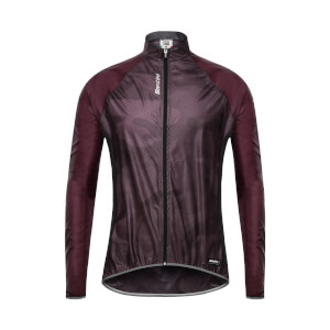 Santini Fine Windbreaker Jacket - Bordeaux