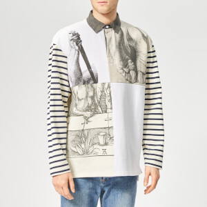 JW Anderson Men's Durer Prints Rugby Shirt - Off White