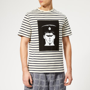 JW Anderson Men's G+G Police Print T-Shirt - Off White