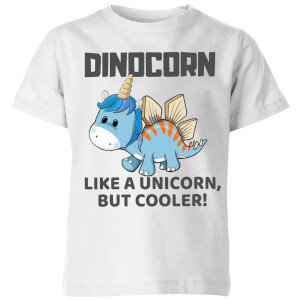 Big and Beautiful Dinocorn Kids' T-Shirt - White