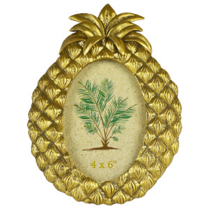 Pineapple Photo Frame - Gold