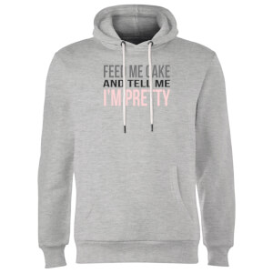 Big and Beautiful Feed Me Cake Hoodie - Grey