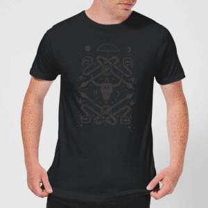 Camiseta American Horror Story Skull Vintage Print - Hombre - Negro