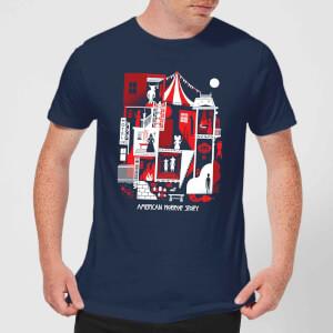 American Horror Story Creepy Rooms Men's T-Shirt - Navy