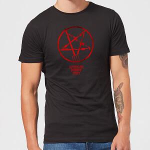 American Horror Story Rot Pentagram Herren T-Shirt - Schwarz