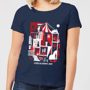 American Horror Story Creepy Rooms Women's T-Shirt - Navy