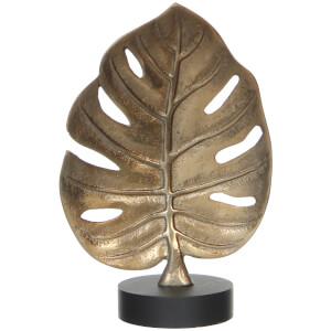 Leaf Sculpture Ornament - Gold