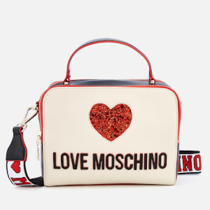 Love Moschino Women's Sequin Heart Cross Body Bag - White