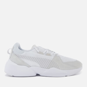 Puma Men's Zeta Suede Trainers - Puma White/Glacier Grey