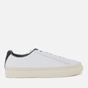 Puma Men's Basket Trim Low Top Trainers - Puma White/Whisper White/Black