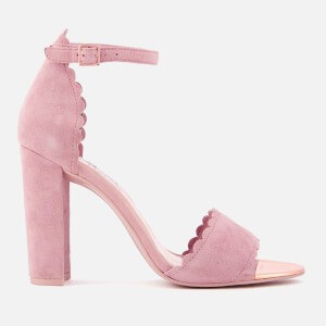 Ted Baker Women's Raidha Suede Barely There Block Heeled Sandals - Pink Blossom