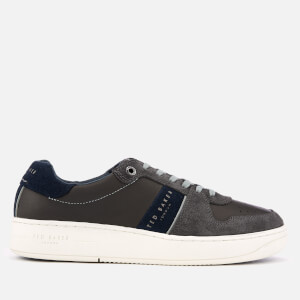 Ted Baker Men's Maloni Suede Low Top Trainers - Dark Grey: Image 1