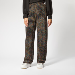Ganni Women's Mullin Georgette Trousers - Black