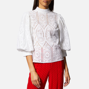 Ganni Women's Falcon Top - Bright White