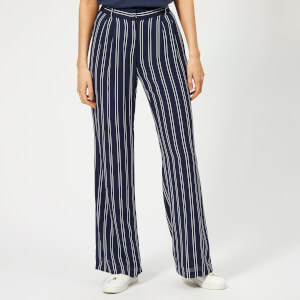 MICHAEL MICHAEL KORS Women's Mega Striped Pants - True Navy/White