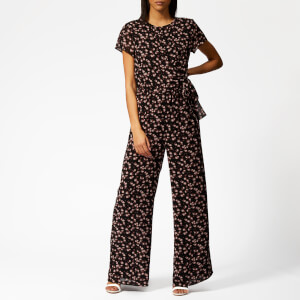 MICHAEL MICHAEL KORS Women's Mini Eden Rose Jumpsuit - Black/Dusty Rose