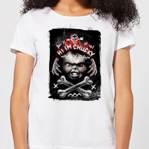 T-Shirt Femme Hi I'm Chucky Chucky - Blanc