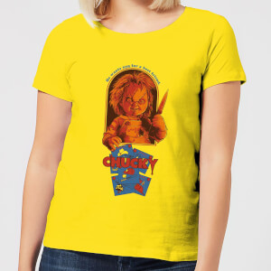 Chucky Out Of The Box Dames T-shirt - Geel