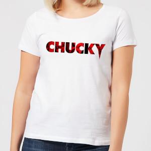 T-Shirt Femme Logo Chucky - Blanc