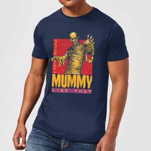 Universal Monsters The Mummy Retro Men's T-Shirt - Navy