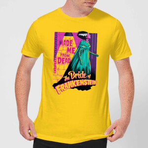Universal Monsters Retro Bride Of Frankenstein Men's T-Shirt - Yellow