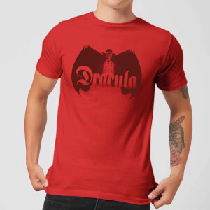 Universal Monsters Dracula Crest Men's T-Shirt - Red