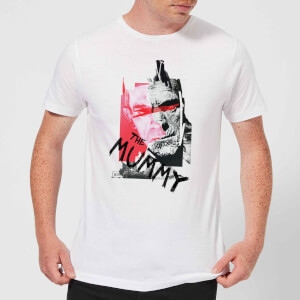 T-Shirt Homme La Momie Collage - Universal Monsters - Blanc