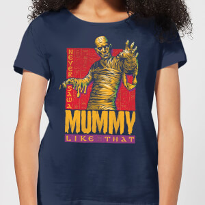 Universal Monsters The Mummy Retro Dames T-shirt - Navy