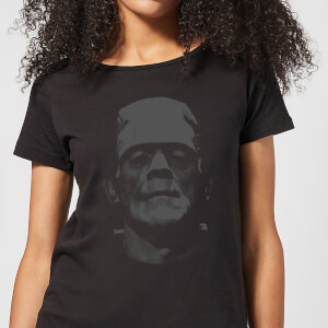 Universal Monsters Frankenstein Black And White Dames T-shirt - Zwart