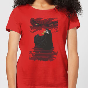 Universal Monsters Dracula Illustrated Women's T-Shirt - Red