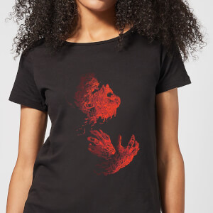 Universal Monsters The Wolfman Illustrated Women's T-Shirt - Black