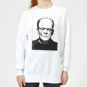 Universal Monsters Frankenstein Portrait Women's Sweatshirt - White