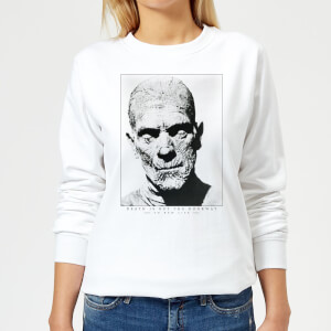 Sweat Femme La Momie Portrait - Universal Monsters - Blanc
