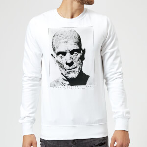 Sweat Homme La Momie Portrait - Universal Monsters - Blanc