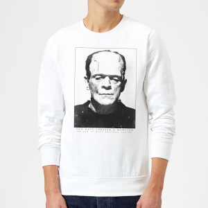 Universal Monsters Frankenstein Portrait Sweatshirt - White
