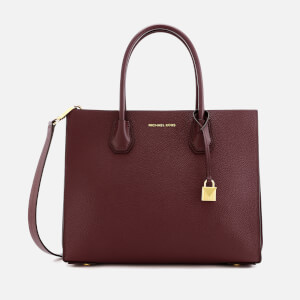 MICHAEL MICHAEL KORS Women's Mercer Accordion Tote Bag - Oxblood