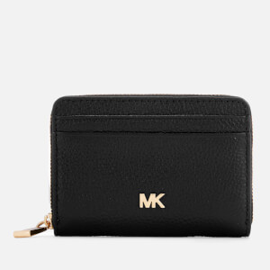 MICHAEL MICHAEL KORS Women's Money Pieces Zip Around Coin Card Case - Black