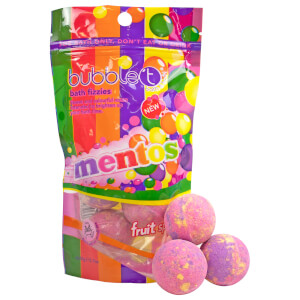 Bubble T x Mentos Fruit Splash Tea Mini Bath Bomb Fizzers (6 x 20 g)