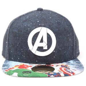 Marvel Avengers Assemble Logo Snapback - Black