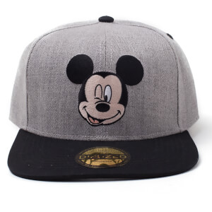 Disney Mickey Mouse Melange Snapback - Black