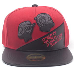 Marvel Ant-Man and the Wasp Men's Rubber Patch PU Novelty Snapback Cap - Red
