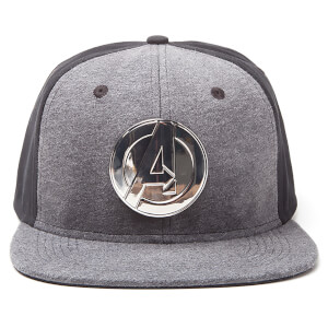 Marvel Metal Avengers Men's Logo Snapback - Grey