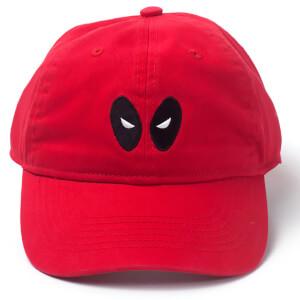 Marvel Deadpool Men s Eyes Dad Cap - Red 2432d71d31fd